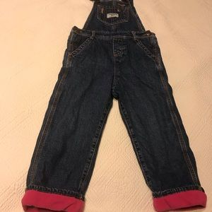 Oshkosh Fleece Lined Denim Overalls